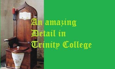 Erstaunliches Detail im Trinity College | story.one