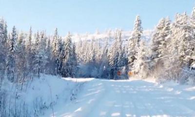 Punktlandung im Schnee... | story.one
